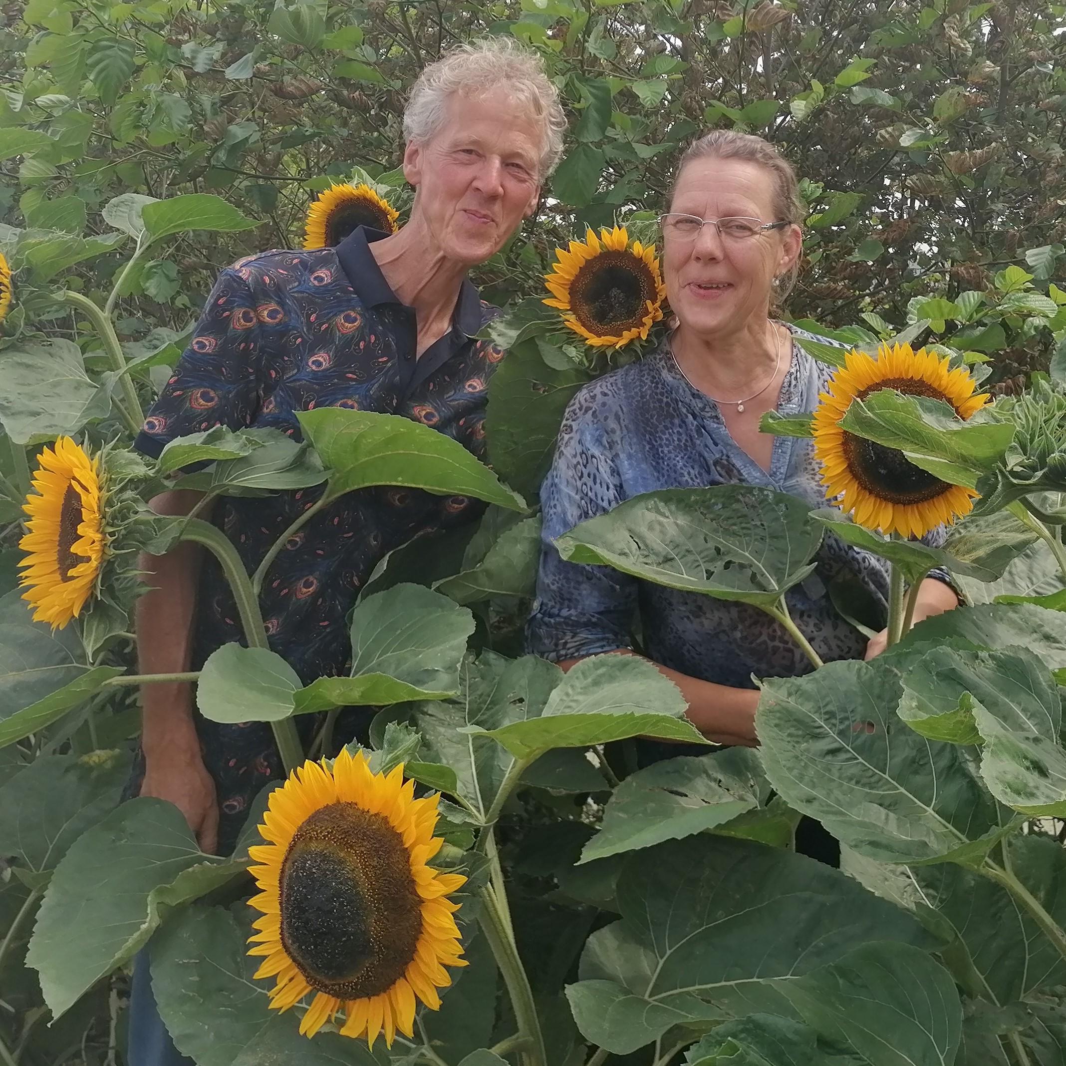 Co Bos en Elma Verhoeven van de Vitamine-fiets